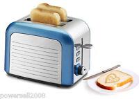 ST-6515 Blue Stainless Steel 2 Slice Household Full-Automatic Breakfast Toaster