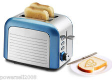 ST-6515 Blue Stainless Steel 2 Slice Household Full-Automatic Breakfast Toaster