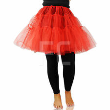 NEW WOMENS LADIES UNISEX LONG TUTU NET SKIRT KNEE LENGTH FLAREY PUFFY RETRO