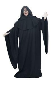Deluxe Black Full Cut Robe Costume Adult Halloween Fancy Dress