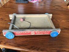 Vintage Captain Kangaroo Holgate wooden wagon