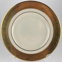 Lenox Golden Weave Gold Herringbone Trim Off White Dinner Plate