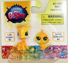Littlest Pet Shop BFF Rainbow Glitter Baby #3 Lofty Sunglo #4 SaffronFlutterdust