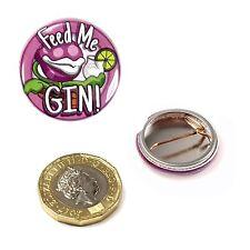 Ginsanity Nouveauté Gin Badge 25mm -petite Shop de Horreurs -feed Moi Gin Rose