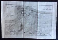 1818 PLAN SAINT JEAN D'ACRE original map Ptolémaïs Acri Israel Israele Tardieu