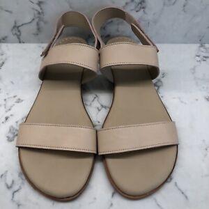 Johnston & Murphy Womens Rosalie Pink Leather Slingback Flats Sandal Size 10M