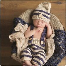 Fashion Cute Newborn Baby Photography Props Outfits Boy Girl Crochet Knitted