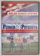 Power 4 Patriots Your Guide To Energy Independence DVD Solar Power System NEW
