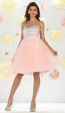 ! SALE ! SHORT BIRTHDAY PARTY CUTE FLOWY PROM CRUISE HOMECOMING DRESS UNDER $100