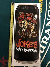 """Monster Energy Drink Logo Can 11"""" Sticker Decal Sponsor Sheet Kit Joker Mad"""