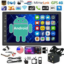 Android 9.1 2DIN Car Radio GPS Nav 7'' Touch Screen Bluetooth MP5 Player +Camera