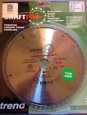 Trend CraftPro Mitre/Crosscut Saw Blade 245mm x 30mm x 60T Thin TCT CSB/CC25460T