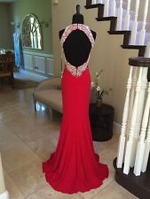 NWT RED JOVANI PROM/PAGEANT/FORMAL DRESS/GOWN #98048 SIZE 6