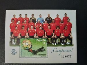 España año 2008 Seleccion Española de Futbol Campeona de Europa Nº 4429 MNH