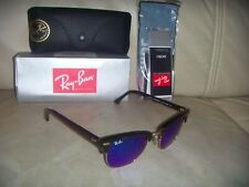 NEW - Ray Ban RB3016 CLUBMASTER Tortoise 49/21 Sunglasses ITALY