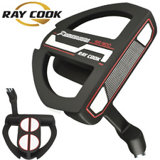 "RAY COOK ""LTD EDITION"" SR-900 RED 34"" 2 BALL PUTTER +HEADCOVER & MIDSIZE GRIP"