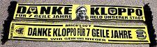 "DANKE KLOPPO Schal ""HELD UNSERER STADT""  Block DO Kurve Fan 150x17 cm 100% Acryl"