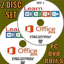 LEARN MICROSOFT OFFICE 2013 SIMPLE VIDEO TRAINING NEW 2 X PC DVD WORD EXCEL Etc