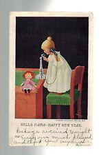 1907 Candor New York USA Postmarked December 24 New Years Christmas Postcard