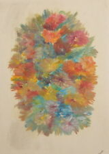 Floral impressionist oil painting signed