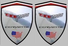 2 adhésifs sticker chrome CORVETTE C3 1980  (idéal ailes avant)