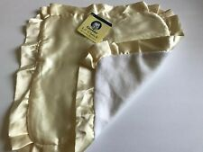 Gerber Lil' Clutch Yellow White Satin Fleece Baby Security Blanket Square Lovey