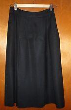 Betty Hanson & Co Rayon/Slik Blend(Women's)8, Navy Skirt,Waist 28,Below Knee