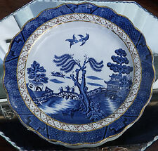 Vintage : Booths Real Old Willow blue and white transferware Tableware - 4X