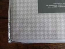 RALPH LAUREN Light GRAY Cream HERRINGBONE XDP QUEEN SHEET SET 4PC