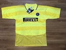 Vintage Forza Inter Pirelli Soccer Jersey Mens Medium New With Tags Stripe Fifa