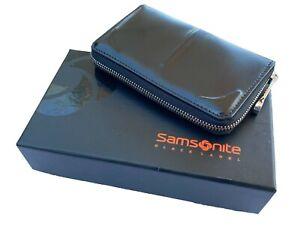 Exclusive Samsonite Black LABEL BAYAMO Collection Coin Purse Leather Black