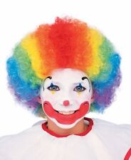 Kids Child Clown Wig Boys Girls Multi Color Rainbow Funny Comical Costume Wig