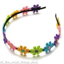 Girls Multi-coloured Daisy Flower Headband Alice Band Hairband Party