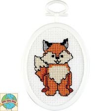 Cross Stitch Kit ~ Janlynn Red & White Fox w/Frame #021-1498