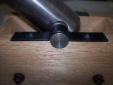 "Black Powder Cannon Barrel Square Carriage Trunnion Cap 3/8"" Diameter Clamp"