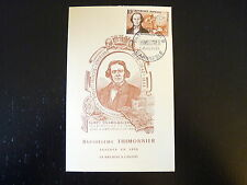 FRANCE PREMIER JOUR FDC YVERT  1013  B THIMONNIER INVENTEUR  10F L ARBRESLE 1955