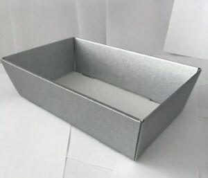 Hamper Tray Silver Gift Boxes DIY Christmas Easter Gift Cardboard Hamper Tray