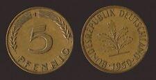 GERMANIA GERMANY 5 PFENNIG 1950 J