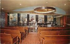 Belleville IL~Round Track Lighting~Pews~Spotlights~Shrine~Our Lady of Snows~1967