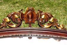 Beautiful Large Highly Decorative Antique Framed Mirror 1900s Carved Vintage