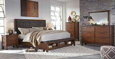 Ashley Furniture Ralene Queen 6 Piece Bed Set Storage Footboard B594