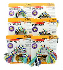Lot of 6 Mini Multi Rope Chew Dog Toy For Dental Health