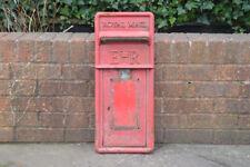 VINTAGE AUTHENTIQUE BUREAU DE POSTE POST BOX FRONT Pillar Box Old Red Letter-FREE POST