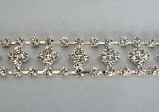 10cm Silver & Diamonte / Rhinestone Chain – Diamond Design - DIY Browband