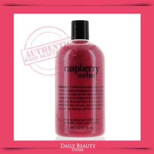 Philosophy Raspberry Sorbet Shampoo, Shower Gel & Bubble Bath 480ml 16oz NEW FAS