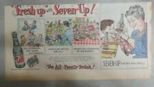 "7-Up Ad: The ""All"" Family Drink ! Family Reunion ! from 1950's  7.5 x 15 inches"