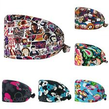 Adjustable Cotton Surgical Caps Kirby Tv Series Cartoon Characters Doctor Lab