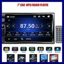 """7"""" Double DIN Touchscreen In Dash Bluetooth Car Stereo Mp3 Audi Din Radio"""