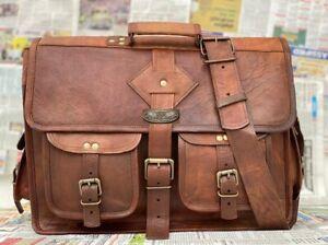 """18"""" Briefcase Leather Messenger Shoulder Laptop Bag Perfect Bag For Men Women"""