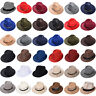 Mens Ladies Womens Straw Hat Felt Fedora Trilby Style Summer Sun Hat Party